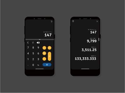 The Calculator Design App for a Phone illustration dailyui004 daily ui ui minimal dailyuichallenge illustrator graphic design flat design app