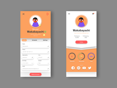 User Profile for Traveling Mobile Apps day006 illustrator daily ui vector minimal dailyuichallenge illustration flat graphic design design app