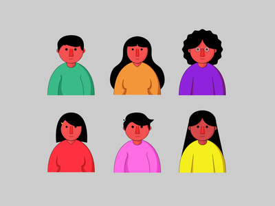 Flat Illustration Design For Profil Picture flat design characters profil picture characterdesign logo vector minimal illustrator illustration graphic design flat design