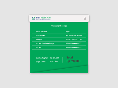 Email Receipt Design green bpjs illustration vector minimal graphic design user interface interface interfacedesign concept dribbble digital email receipt receipt design dailyuichallenge dailyui