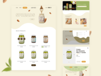 UI/UX Redesign for Sarai's Spreads Shop cart menu design ux ui minimal web website design