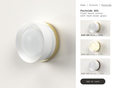 3D Lighting design and website experiment
