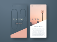 UX/UI Mobile APP Color Explore: Beauty