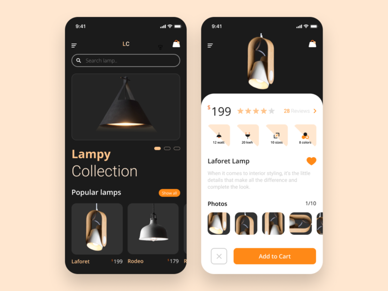 Lamp product mobile app marketplace product lamp mobileapps clean android app app design app uiux android android app design