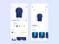 Apparel Store Mobile App simple mobile mobile ui t shirt mobile apparel android app trending clean clothing design mobile store app design android app design uiux