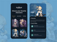 Genshin Impact Guide Mobile App genshin impact gaming clean ui mobile appdesign games game clean android app design uiux