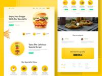 Burger Web Design websites website concept burger menu orange web designer clean ui webdesigner webdeisgn website design web website burger web design webdesign clean