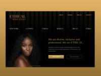 Landing page model agency agency gold dark theme dark ui ux landing page webdesign modelagency design uxdesigner xd adobe ui design uiux