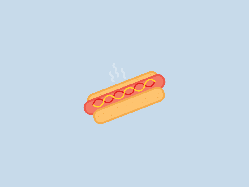 Hotdog illustration food 100 days icon design veggie sausage veggie hotdog