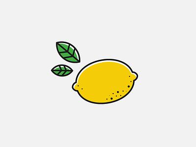 Lemon 100 days lemonade lemon illustration icon vegetable fruit food design