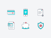 Icon set: financial security
