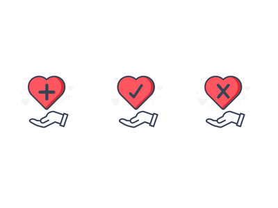 Icons: Heart Actions actions hearts compassion crowdfunding fundraisers charity illustrations icons