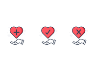 Icons: Heart Actions