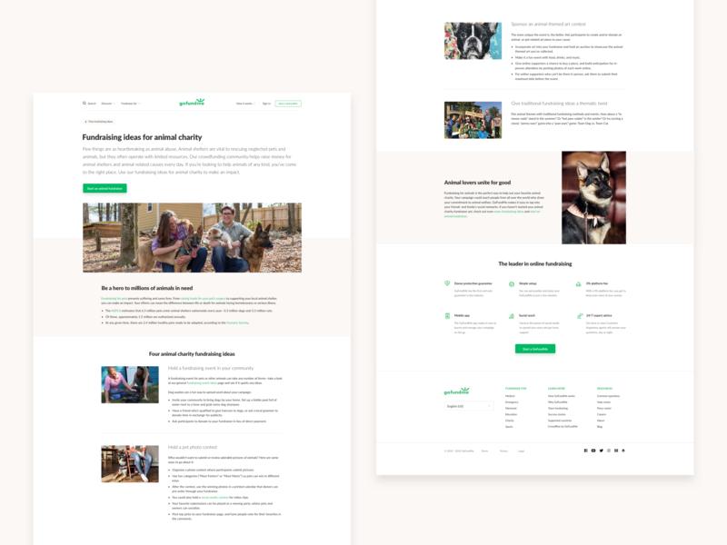 GoFundMe fundraising idea redesign user interface web design ui website