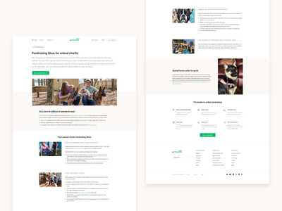 GoFundMe fundraising idea redesign user interface web design ui website