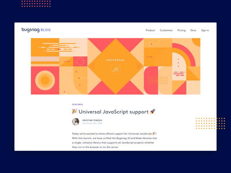 Universal JS header design js illustration design shapes geometric javascript blog abstract design abstract