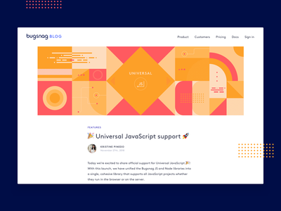 Universal JS header design js illustration design shapes geometric javascript blog abstract design abstract