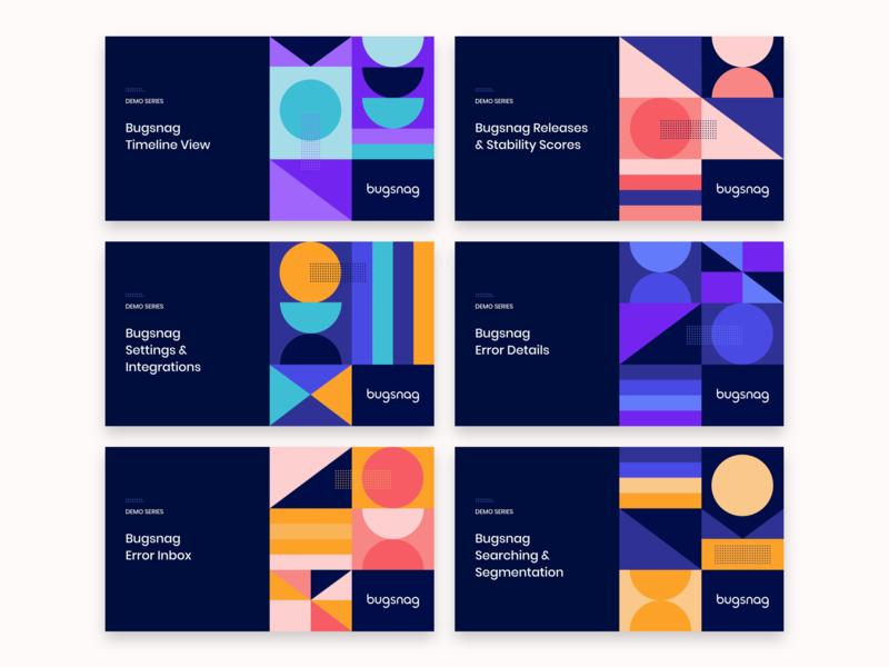 Video title designs geometric shapes dribbble design illustration