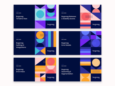 Video title designs geometric shapes dribbble design illustration
