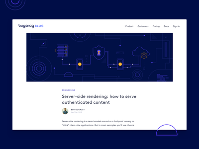 Server-side rendering header shapes server geometric dribbble design illustration