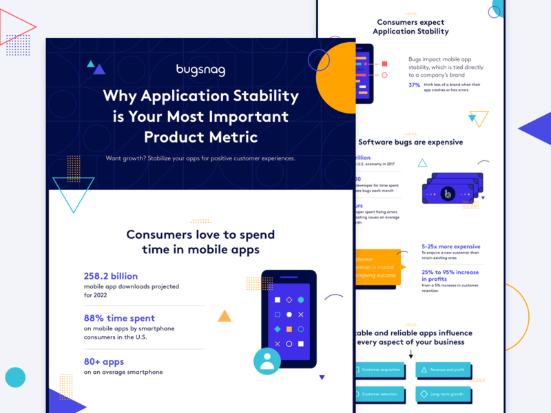Infographic design engineer mobile infographic shapes dribbble design illustration