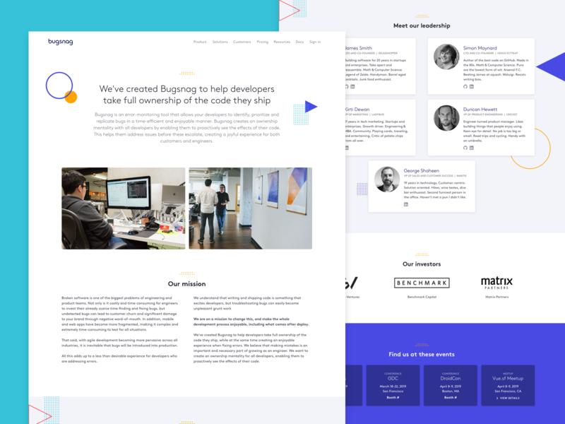 About page illustration landing page web  design design