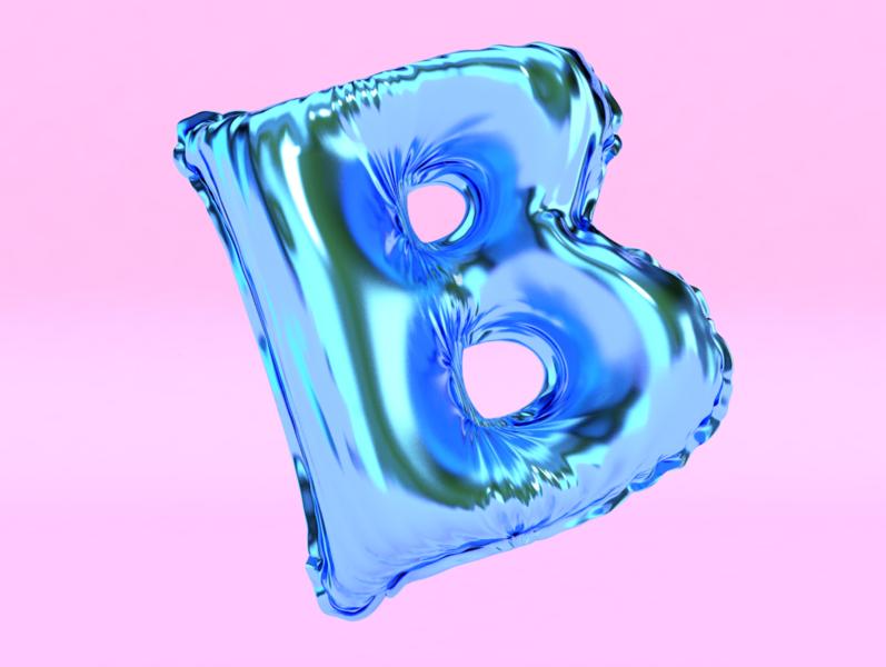 3D Balloon [B] 3dmodel 3dlettering render float 36daysoftype 3dtype lettering octane cinema4d cgi c4dart c4d 3dilustration 3d artist 3d art 3dart 3d animation 3d balloon