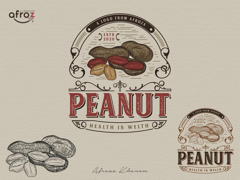 Peanut logo sketch logo peanut illustration design branding vector logo adobe illustrator vintage logo