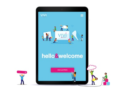 Vivi Creative illustrator ux website web ui logo illustration icon branding app