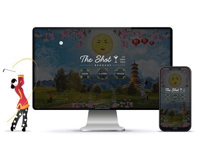 The Shot Bangkok flat design website logo web ui illustrator illustration icon branding