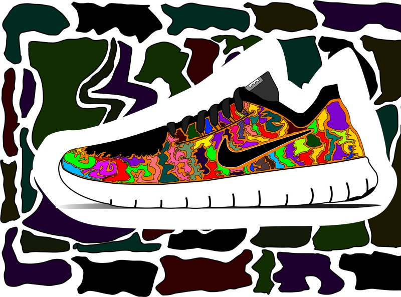 Nike Shoes Illustration V. brand graphicdesigner illustrations illustrator illustration nike air nike drawingart drawings draw graphic design graphicdesign dribbble drawing design color art adobe photoshop adobe illustrator adobe
