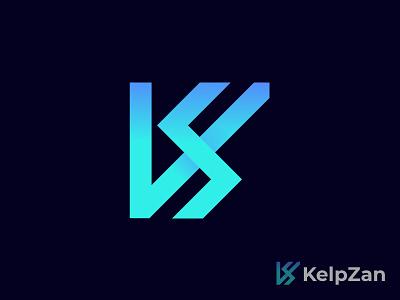 K+Z letter logomark artist wordmark logos logodesign logotype klogo logo design branding logo design illustration graphic design flat brand identity brand design brand appicon abstract logo