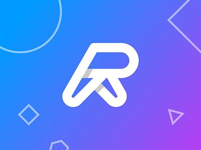 R lettermark logo type typelogo logomark appicon graphic design abstract logo brand identity brand logo design lettermark