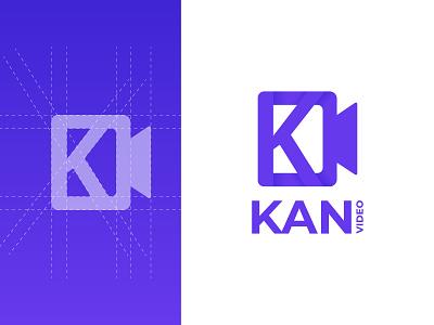 K Letter Video Logo Design company business design logotype typo icon app logo creative simple minimalist modern video letter