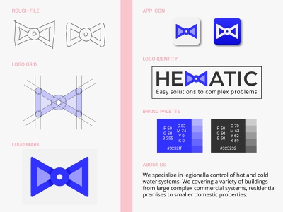 Hematic Logo Design unique professional graphic minimal creative icon app brand typo design logo automatic valve schematic colourful gradient abstract flat minimalist modern