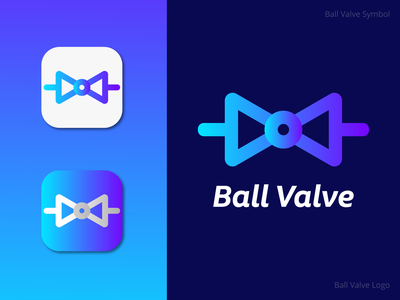Ball Valve Symbol   Ball Valve Logo design design logo schematic automatic industry machine unique awesome colourful creative minimalist modern app brand identity brand flat symbol valves valve ball