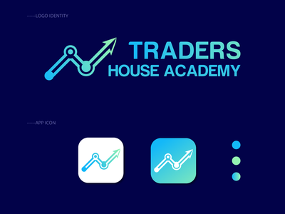 Traders Logo app logomark modern gradient colorful increase grow business develop investing invest forex bitcoin bit logotype idenity logo traders trader