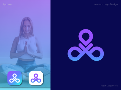 Yoga Logomark gimme young life colorful playful young design brand identity minimalist illustration flat modern creative app logomark yoga logotype logo