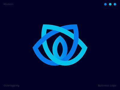 overlapping flower logo outline letter logo lettermark design app abstract logo logotype creative flat modern overlapping logos overlays brand identity overlay