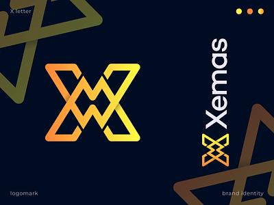 X letter logomark marketing agency shape symbol yellow icon app logotype flat modern logo creative brand identity lettermark o p q r s t u v w x y z a b c d e f g h i j k l m n letter logo