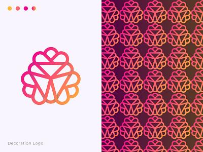 decoration-logo site colorful gradient creative mandala branding beauty flower best decoration logo design decoration decoration-logo flat modern logo logotype brand identity