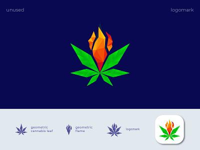 ( cannabis + fire ) geometric cannabis flame logo design plant fire flame cbd cannabis geometric leaf logo logotype marijuana premium design cbdoil water brand design cannabis branding brand strategy visual identity branding