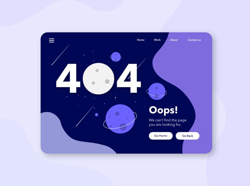 daily UI // 008 404 page undraw space webdesign error page 404page 404 daily ui dailyui008 uidesign ux uiux uidailychallenge ui uidaily design