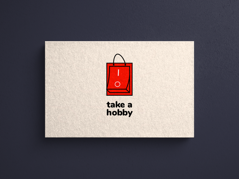 A logo with a red bag and button | Turbologo
