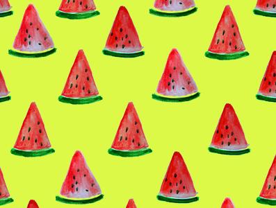Watermelon Pattern watermelon pattern design pattern watercolor art watercolor painting watercolor