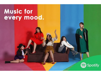 Spotify inside out spotify studio photography set design compositing fashion photography photography