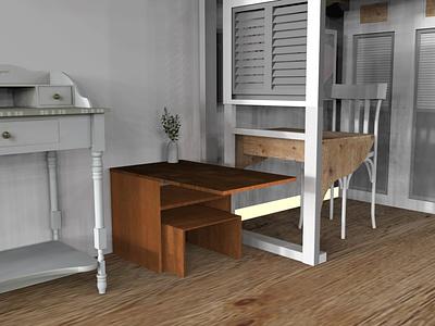 Side Table 3d design