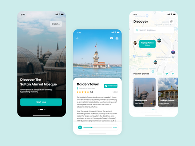 Histourical app - Look at history with augmented reality. interface histouricalapp uxdesign uiuxdesign tourapplication applicationdesign histourical