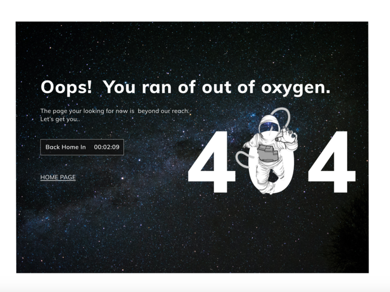 404 error page typogaphy website design ui