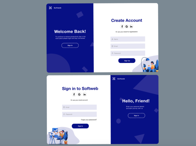 Software Login/Sign Up UI dribbble branding visual design website software